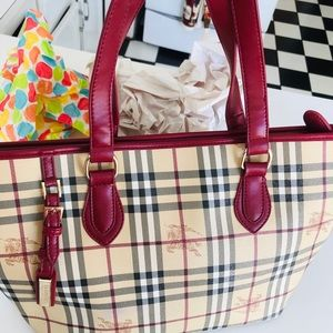 Burberry Vintage Large Leather Tote Bag